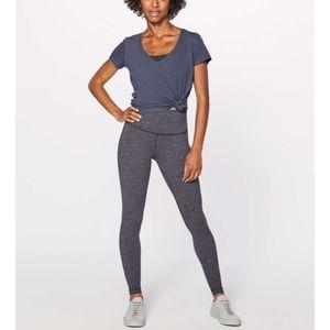 Lululemon Wunder Under Hi-Rise Tight Knit Heathered Black 8 Leggings Yoga Pants